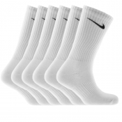 Nike Six Pack Socks White
